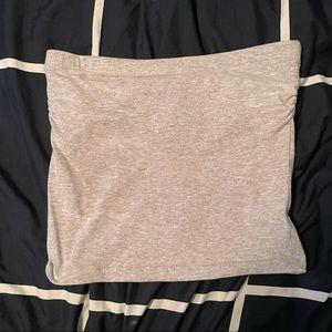 Zenana Outfitters Grey Tube Top